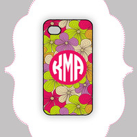 iPhone  Case- Flower Monogram-  iPhone 4 Case, iPhone 4s Case, iPhone 5 Case, Monogram Case, Personalized iPhone Case