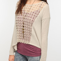 Urban Outfitters - Staring at Stars Crochet Panel Sweater Knit Top