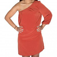Rust One Shoulder - Dresses