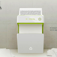 b for bel: The Printer that Removes Ink from Paper!