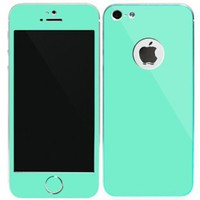 SkinPlayer Aluminize iPhone 5 Aluminum Full Body Skin Cover - 100% Diamond Cut Aluminum - Screen Protector / Aluminum Home Button Included - Retail Packaging - Mint