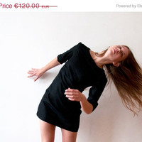 ON SALE Little black dress, cotton, size XS