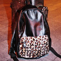 Cool Rivet Leopard Backpack Bag on Luulla