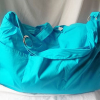 Teal Diaper Bag  Customized Diaper Bag   Weekender by ACAmour
