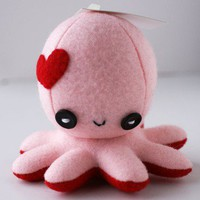 ShanaLogic.com - 100% Handmade &amp; Independent Design! Octo-Plushie In Love! - Cute Cute Cute!