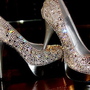 "Silver Pumps / High Heels - ""Cinderella"" Swarovski Pumps 