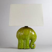 Elephant Ceramic Table Lamp