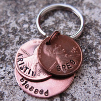 Blessed 1 Circle penny keychain with 2 by DesignByAnyOtherName