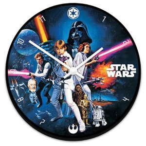 Vandor Wood Clock, Star Wars, 13-1/2-Inch