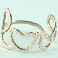 Love Ring Bronze Friendship Ring Bridesmaids ring by Excognito