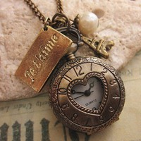 Paris Time a vintage style pocket watch by trinketsforkeeps