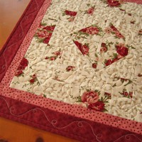Quilted Table Topper Floral on Luulla