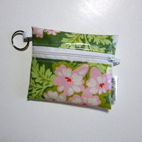 Floral Zipper Pouch, Oil Cloth, Wallet, Coin Purse, Heather Bailey Nicey Jane