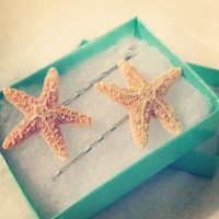 Starfish Bobby Pins Pair by byElizabethSwan on Etsy