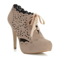 Simples Nude Laser Cut Heel - Shoes