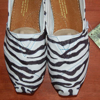 Custom TOMS - Zebra Stripes, your colors, shoes included