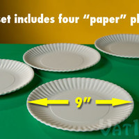 "Reusable ""Paper"" Plates: Environmentally friendly alternative to paper plates."