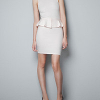 SLEEVELESS PEPLUM DRESS - Last sizes - TRF - ZARA United States