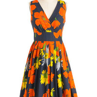 Glamour Power to You Dress in Garden | Mod Retro Vintage Dresses | ModCloth.com