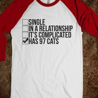 97 Cats-Unisex White/Red T-Shirt