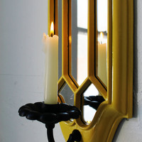 $44.00 Mirrored Candle Sconce  vintage upcycled hanging by BootsNGus