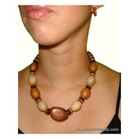 Candy Necklace and pendants made out of Tagua Exotic Ivory | Tagua Necklaces | Tagua Earrings