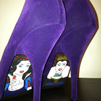 Snow White and the Evil Queen Purple Suede Velvet Pumps