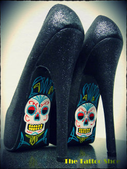 Calaveras de Azucar Skull Heel by The Tattoo Shoe