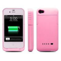 Amazon.com: ipower i-power iphone 4 / 4s External Rechargeable Spare Backup Extended 1900 mAh Battery Charger Pack Case Cover for Apple iphone 4s (Pink): Home & Kitchen