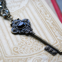Skeleton key necklace by VaeNox on Etsy