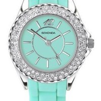 Party Time by Sekonda Crystal set Mint coloured silicon watch 4650: Watches: Amazon.com