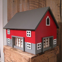 LARGE Kids Toy Wooden Barn Includes 4 Sections by TheSquareNail