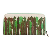 "Poketo Jolby ""Evergreen"" Canvas Zip Wallet"