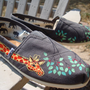 giraffes painted on TOMS shoesmade to order by ArtfulSoles on Etsy