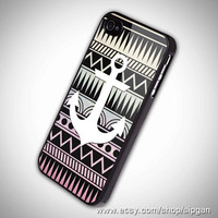 Anchor on aztec pattern 2 iPhone 5 Case iPhone 4 /4S by sipgan