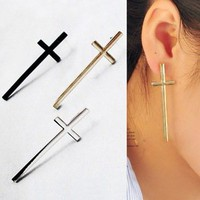 The Redeemed  Vintage Style Cross Stud Earrings