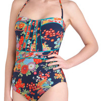 Lune and Lagoon One Piece in Midnight | Mod Retro Vintage Bathing Suits | ModCloth.com