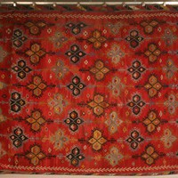 Vintage Turkish Red Kilim Rug