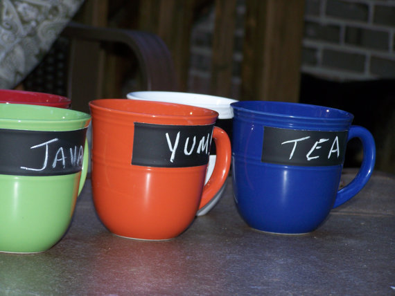 Personalized Chalkboard Mugs by ASimplePeacePlace on Etsy