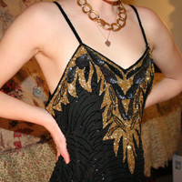 West Egg Flapper // Great Gatsby Elegant Beaded Party Dress
