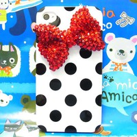 Bling Crystal Red Bow Wh...