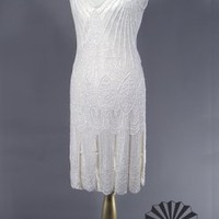 The Vamp White : 1920&#x27;s Flapper Dress