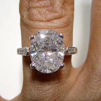 371ct Estate Oval Diamond Solitaire Engagement by TreasurlybyDima