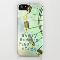 every summer has a story iPhone Case by Sylvia Cook Photography | Society6