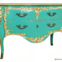 Fabulous & Baroque — Louis XV Commode - Aqua