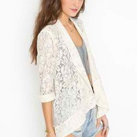Lana Lace Jacket - Cream