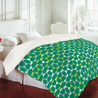 DENY Designs Home Accessories | Heather Dutton Rocktagon Emerald Duvet Cover