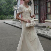 Modish Off White Wedding Dress With Drape Neck | elliotclaire london | ASOS Marketplace