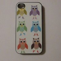 Hard iPhone Case Owls Owl Painting Custom by CreateItYourWay