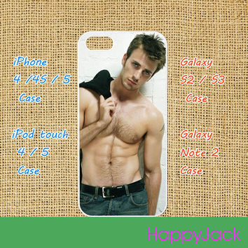Chris Evans - iPhone 4 case , iphone 5 case , ipod touch 4 / 5 case, samsung galaxy S3 / S2 case in black or white